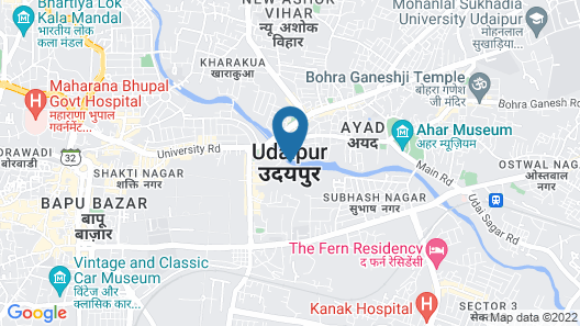 Regenta Central Mewargarh Map