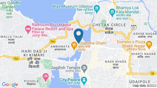 Hotel Brahma Niwas by the Lake Map