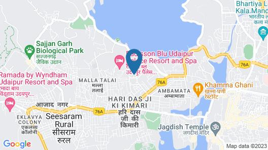 Radisson Blu Udaipur Palace Resort & Spa Map