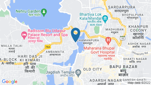 Swaroop Vilas - Lake Facing Boutique Hotel Map