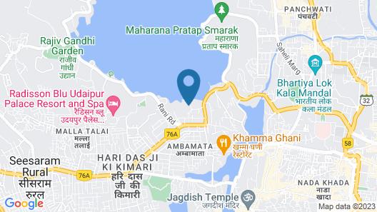 Ram Pratap Palace Map