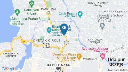 Hotel Mewar Inn Map