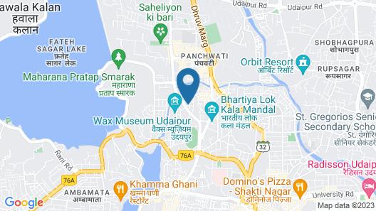 Hotel Saheli Palace Map