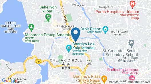 Golden Tulip Udaipur Map