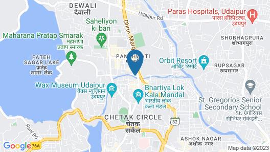 Hotel Gyangarh Map
