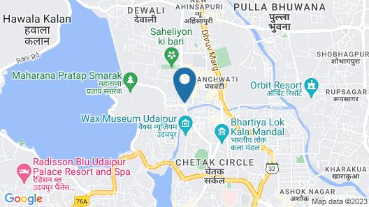 Hotel Darshan Palace - Udaipur Map