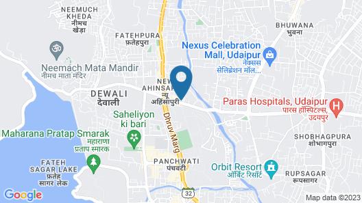 Hotel Ashwin Map