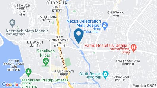 Mango Hotels Q Udaipur Map