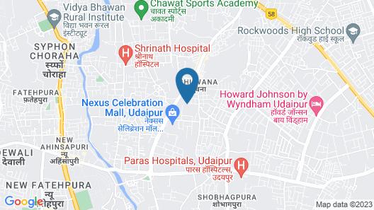 Zade House Udaipur Map