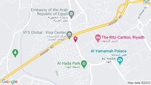 Courtyard by Marriott Riyadh Diplomatic Quarter Map