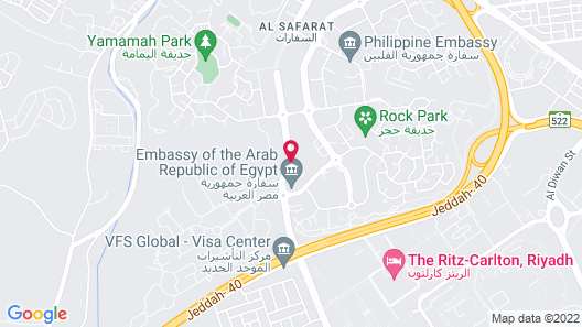 Riyadh Diplomatic Quarter - Marriott Executive Apartments Map