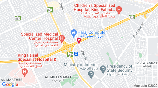 Aloft Riyadh Map