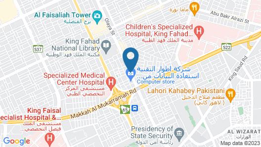 Plaza Inn Olaya Hotel Map