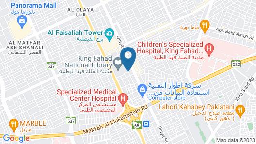 Mena Hotel Riyadh Map