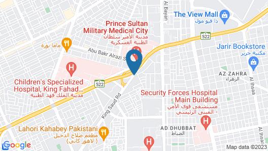 Marriott Executive Apartments Riyadh, Convention Center Map