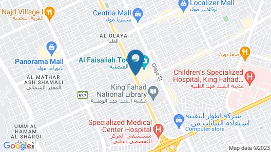 Al Faisaliah Hotel, Riyadh Map