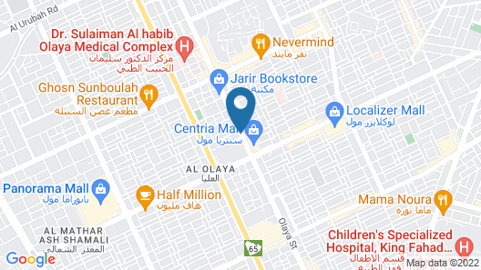 Hyatt Regency Riyadh Olaya Map