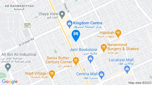 Novotel Suites Riyadh Dyar Map