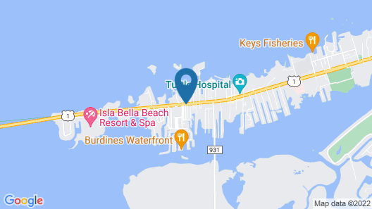 Captain Pips Marina & Hideaway Map