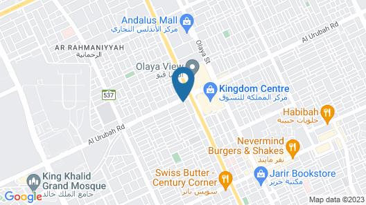Carawan Al Fahad Hotel Riyadh Map