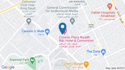 Crowne Plaza Riyadh RDC Hotel & Convention, an IHG Hotel Map