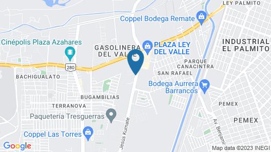 Hotel Maioris Jesús Kumate  Map