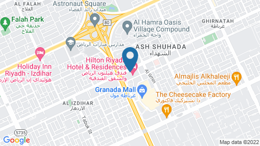 Hilton Riyadh Hotel & Residences Map