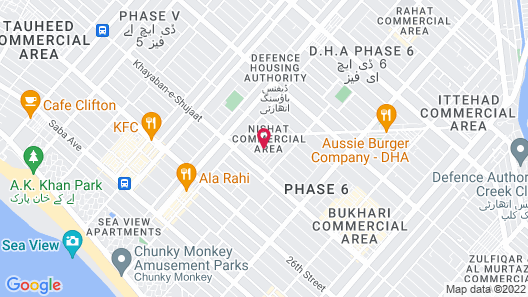 Service Apartments Karachi Map