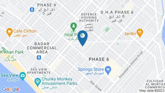 Service Apartments Karachi Map