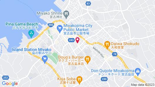 Tabino Hotel lit Miyakojima Map