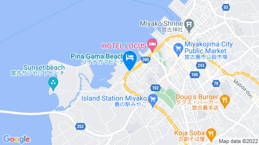 Mr.KINJO Miyakojima Painagama Resort Map