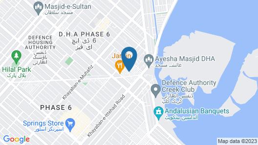 The Reserve Hotel Karachi Map