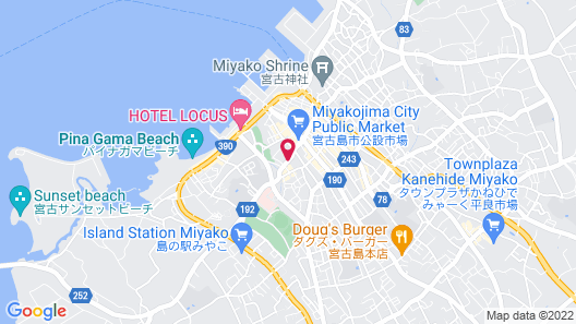 Hotel de L'aqua Miyakojima Map