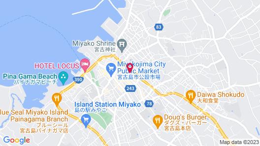 Peace Island Miyakojima Shiyakushodori Map