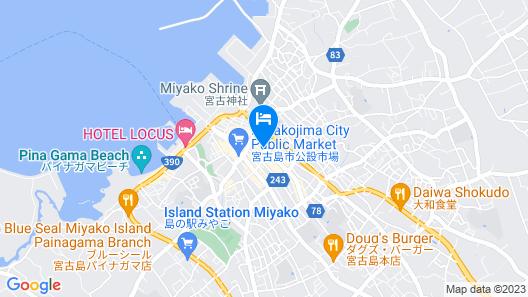 Miyako Central Hotel Map