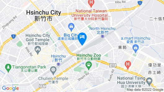 Ambassador Hotel - Hsinchu Map