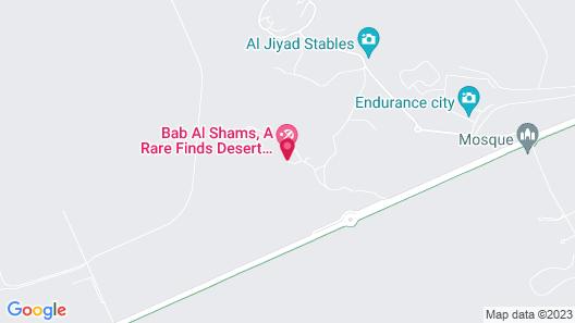 Bab Al Shams Desert Resort - Dubai Map