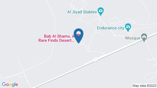 Bab Al Shams Desert Resort and Spa Map