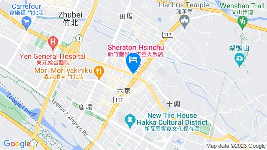 Sheraton Hsinchu Hotel Map