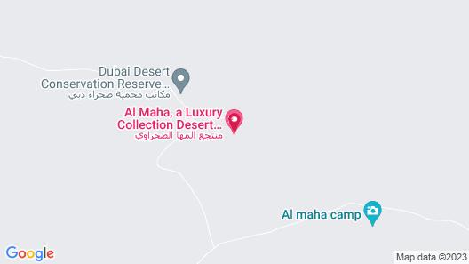 Al Maha, A Luxury Collection Desert Resort & Spa, Dubai Map