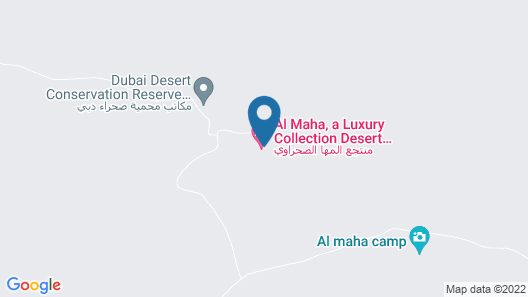 Al Maha, A Luxury Collection Desert Resort & Spa, Dubai Map