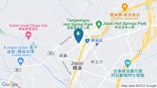 Beauty Garden Hotel Jiaohsi Map