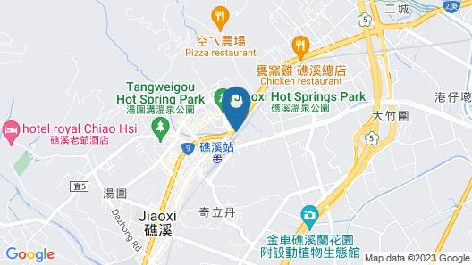 Angels Inn Jiaoxi Hotspring Map