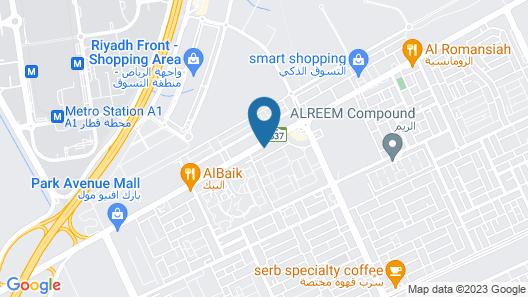 Radisson Blu Hotel Riyadh Qurtuba Map
