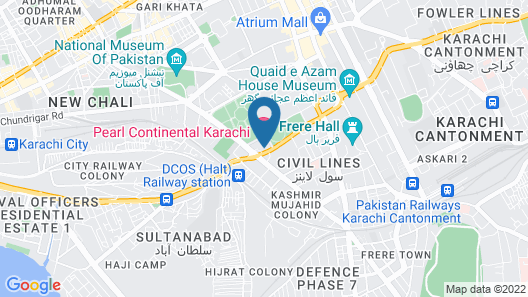 Pearl Continental Hotel Karachi Map