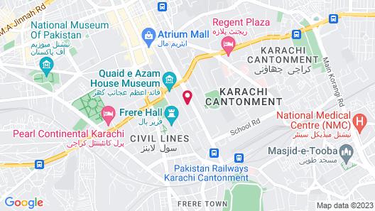 Marriott Karachi Hotel Map