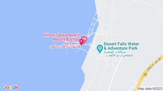 Hilton Salwa Beach Resort & Villas Map