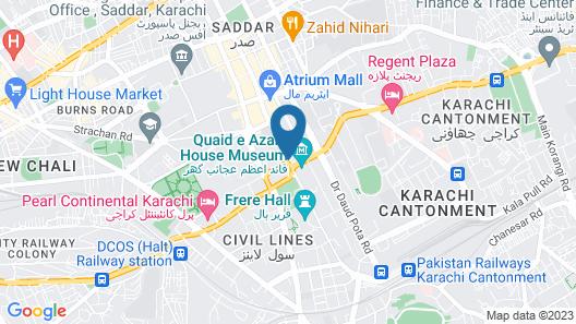 Avari Towers Karachi Map