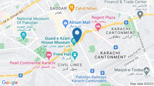 Hotel Mehran Karachi Map