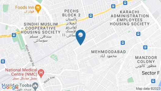 MoonLight Guest house Karachi Map